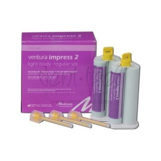 VENTURA Impress 2 Light body regular set(2x50 ml)+12 Mix Tip