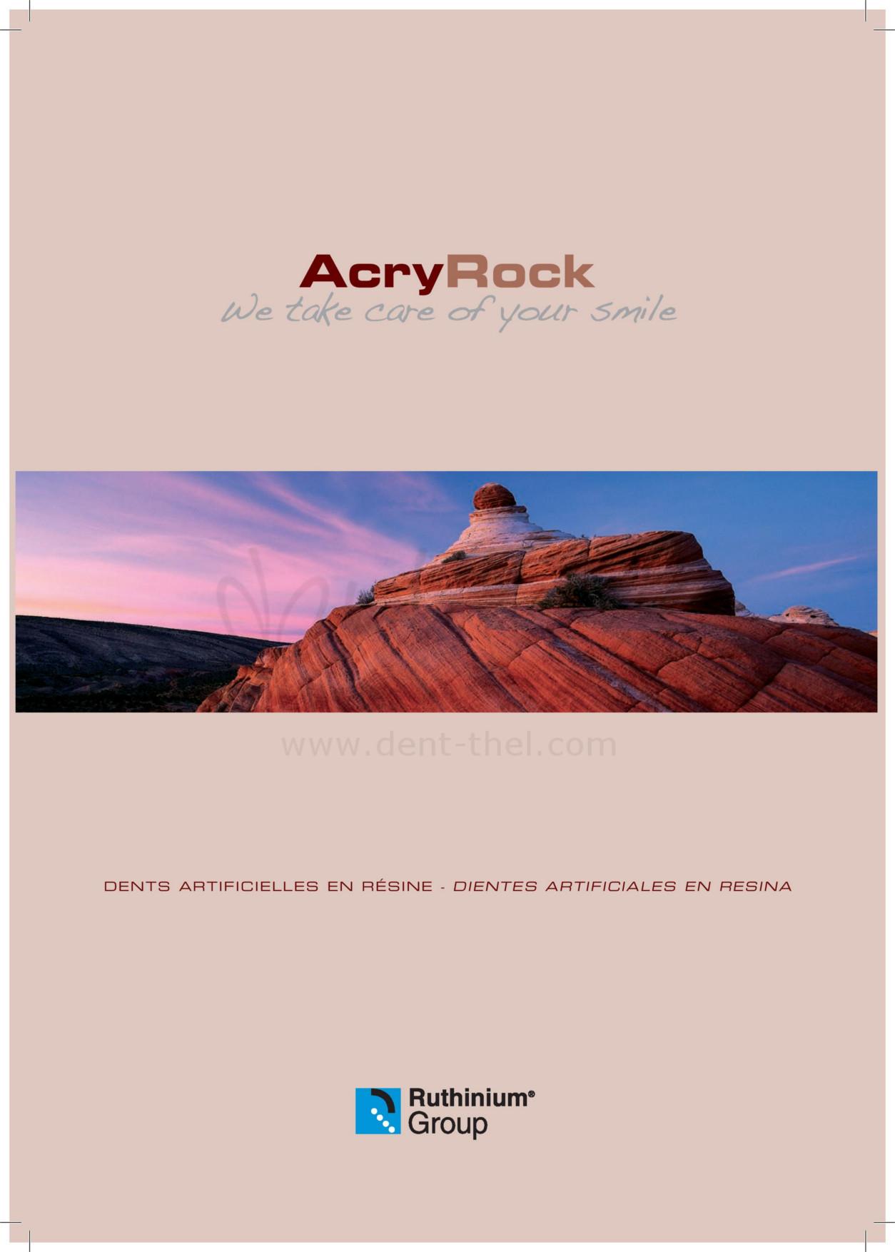 Carta formas Acry Rock